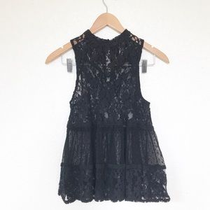 Free People all lace baby doll high neck tank XS